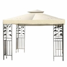 10x10 ft Patio Canopy Gazebo Replacement Top Ivory