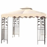 10x10 ft Patio Canopy Replacement Top for Gazebo Beige