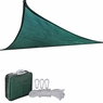 11.5' Triangle Outdoor Sun Sail Shade Patio Green