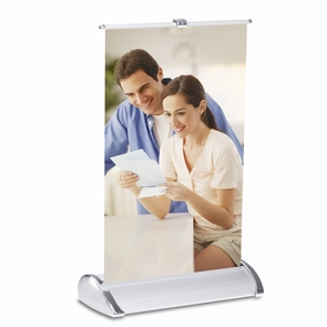 "11""x 8"" Letter Size Rollup Desktop Retractable Banner Stand"