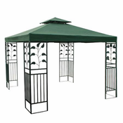 12x12 ft gazebo canopy replacement top garden green - 12x12 Canopy