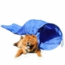 15' Dog Agility Tunnel Pet Training Equipment with Carry Case Blue