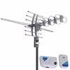 150 Miles VHF UHF FM HDTV Amplified TV Antenna w/ Remote Rotor II