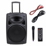 15in Portable Active PA Speaker w/ Wireless Microphone