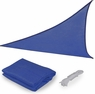 16.5' Triangle Outdoor Sun Shade Sail Canopy Blue