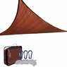 16.5' Triangle Outdoor Sun Shade Sail Canopy Dark Red
