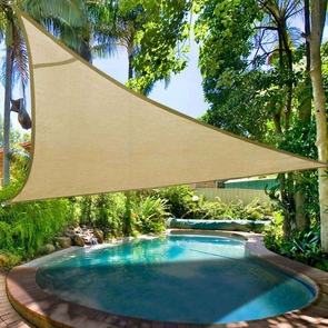 16.5' Triangle Outdoor Sun Shade Sail Canopy Desert Sand