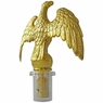 16 ft Outdoor Flag Pole Top Finial Golden Plastic Eagle
