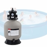 "16"" In / Above Ground Swimming Pool Sand Filter w/ Valve"