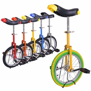 16 inch Wheel Unicycle Multiple Color