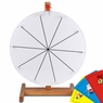 "16"" Tabletop White Dry Erase Spinning Prize Wheel 10 Slot"