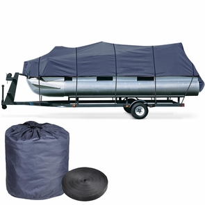 17'-19' Waterproof Pontoon Trailerable Boat Cover