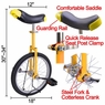 18 inch Wheel Unicycle Yellow