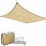 18' Square Outdoor Sun Sail Shade Patio Desert Sand