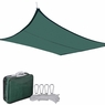 18' Square Outdoor Sun Sail Shade Patio Green