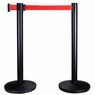 2-Pack Line Steel Crowd Control Stanchions w/ Retractable Belt