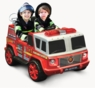 2 Seater Fire Engine Ride On Truck Shoots Water W/Siren Light