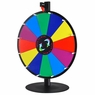 "20"" Tabletop White Dry Erase Clicker Prize Wheel 12 Slot"