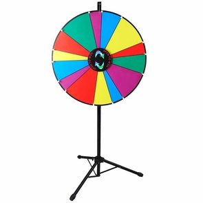 "24"" Floor Stand Tripod Spinning Prize Wheel 14 Slot"