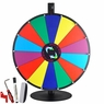 "24"" Tabletop Color Dry Erase Spinning Prize Wheel 14 Slot"