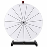 "24"" Tabletop White Dry Erase Clicker Prize Wheel 15 Slot"
