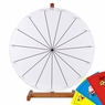 "24"" Tabletop White Dry Erase Spinning Prize Wheel 15 Slot"