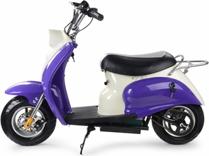 24 Volt Electric Moped Scooter Big Ride On For Children Vespa Style