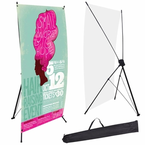 """24"""" x 63"""" Trade Show Exhibition X Banner Stand"""