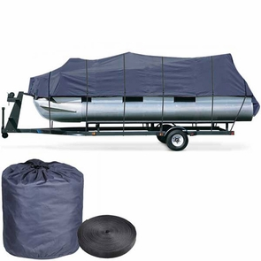 25'-28' Waterproof Pontoon Trailerable Boat Cover Blue