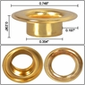 """3/8"""" #2 Brass Grommets and Washers 1000 Package"""