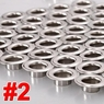 "3/8"" #2 Nickel Grommets and Washers 1000 Package"