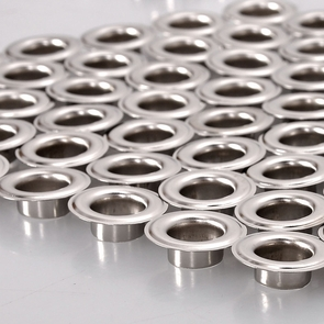 "3/8"" #2 Nickel Grommets and Washers 1000 Package II"