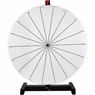 "30"" Tabletop White Dry Erase Clicker Prize Wheel 18 Slot"