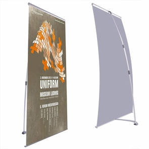 """32"""" x 83"""" Trade Show Exhibition L Banner Stand"""