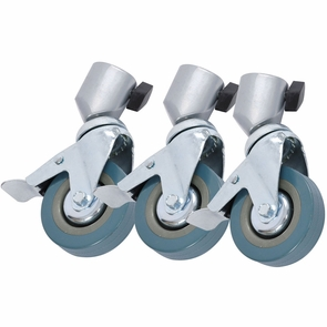 3x Studio Tripod Caster Wheels for Light Stand