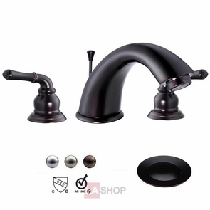 "4"" Bath Tub Faucet Bathroom Sink Faucet w/ Pop-up Drain"