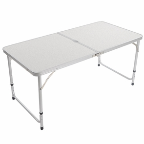 4 Ft Folding Adjustable Camping Table Outdoor Picnic Desk
