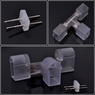 5 Pcs 13mm 2 Wire T Connector for Neon Rope Light