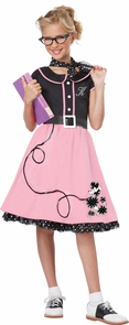 50s Sweetheart Child Sm 6-8 Costume