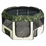 "56"" Octagon Dog Playpen Pet Exercise Pen Camouflage"