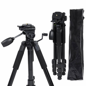 "57"" 4-Section Aluminum Tripod DSLR Camcorder Stand w/ Ball Head"