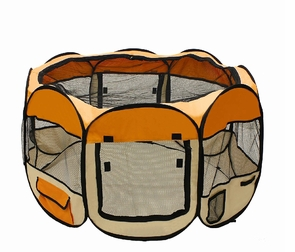 "57"" Octagon Pet Playpen Dog Exercise Pen Orange"