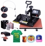 5in1 12x15 Heat Press Transfer Sublimation Machine Black