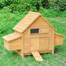 "60""x26""x44"" Barn Wooden Chicken Coop Poultry Hen House w/ 2 Nest Box"