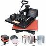6in1 12x15 Heat Press Transfer Sublimation Machine Black