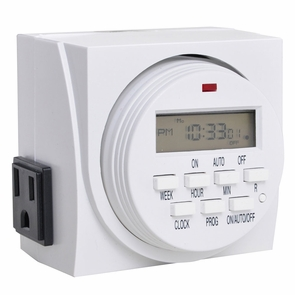 7 Day LCD Digital Electric Timer With 2 Outlets