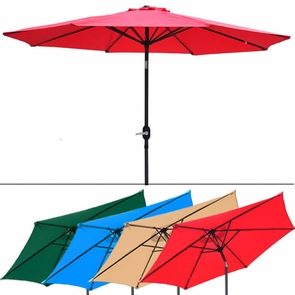 8 Foot Patio Outdoor Furniture Umbrella Tilt Multiple Color Options