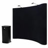 8'x8' Portable Trade Show Display Booth Pop Up Black w/ Case II