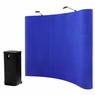 8'x8' Portable Trade Show Display Booth Pop Up Blue w/ Case