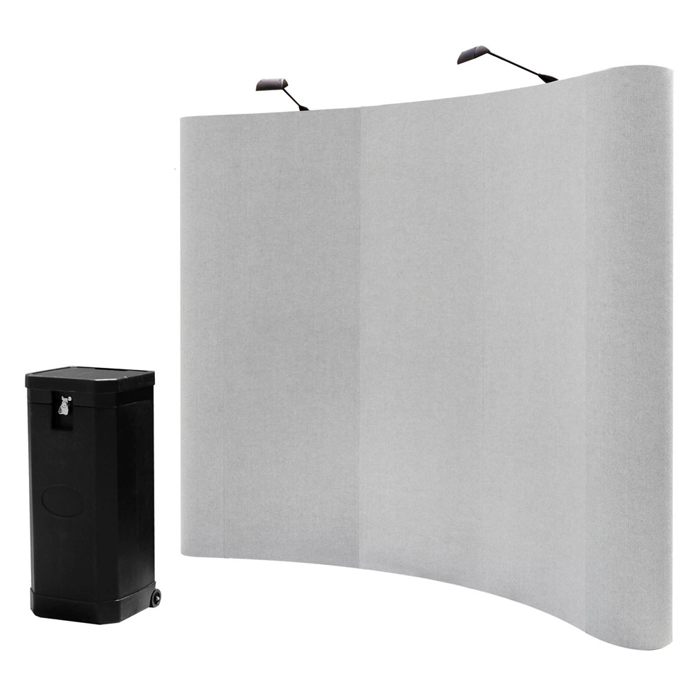 8 X8 Portable Trade Show Display Booth Pop Up Grey W Case